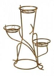 Stojak na kwiaty - Kwietnik metalowy - 3-ka Z