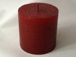 Świeca ozdobna - Burgund - Walec - 7,5x7,5cm