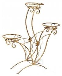 Kwietnik metalowy - Stojak na kwiaty - 3 ZD