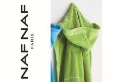 Szlafrok zielony - 100% Bawełna - M - NAF NAF