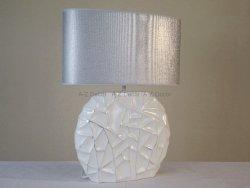 Lampa stołowa - Białosrebrna - 45x17x59cm