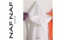 Szlafrok - Biały - XL - NAF NAF - 100% Bawełna
