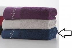 Ręcznik kąpielowy - Granatowy - 100% Bawełna - 70x140cm