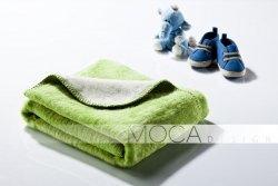 Kocyk dla dziecka - Zielono - Kremowy - 75x100 cm