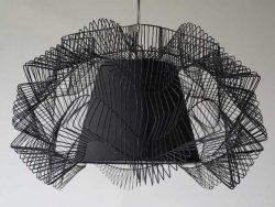 Lampa wisząca - Sieć czarna - 45x27cm