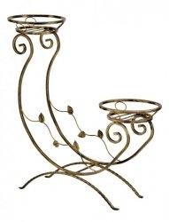 Kwietnik metalowy - Stojak na kwiaty -  Struś 2-ka