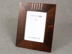 Ramka na zdjecia - Drewniana - Brąz - 13x18cm