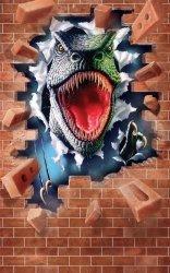 Fototapeta dla dzieci - Dinozaur Roar - 3D - 244x152cm
