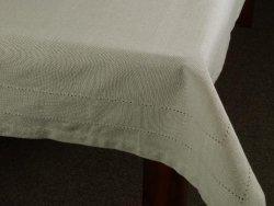 Obrus na stół - Oliwkowy - 100% Bawełny - 140x140cm