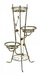 Kwietnik metalowy - Stojak na kwiaty - Na 3 Doniczki