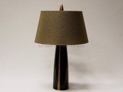 Lampa stołowa - Ciemnobrązowa - ARIANE - 40x63cm