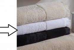 Ręcznik - Biały - 100% Bawełny - 50x100cm - NAF NAF