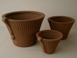 Doniczki ceramiczne - D31xH24cm 3szt.