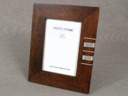 Ramka na zdjecia - Drewniana - Brązowa - 13x18cm