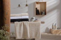 Ręcznik - Czarny - Minos NAF NAF - 100% Bawełny - 50x100 cm
