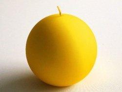 Świeca ozdobna - Żółta - velvet 10cm