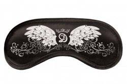 Opaska na Oczy wzór Swarovski wings black