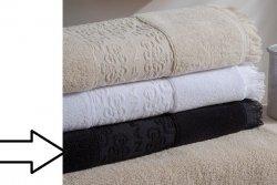 Ręcznik - Czarny  - 100% Bawełny - 70x140 cm - NAF NAF