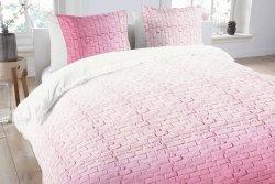 Pościel bawełniana - ANEEZA Pink Brick - 160x200 cm