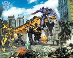 Tapeta - Transformers - 3D - Walltastic - 243,8x304,8 cm
