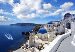 Fototapeta na ścianę - Panorama Santorini, Grecja 366x254cm
