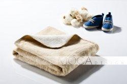 Kocyk dla dziecka - Beżowo - Kremowy - 75x100 cm