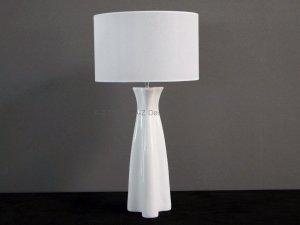 Lampa stołowa - Biała - TULIP - 40x78cm