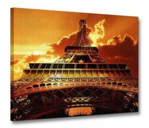 Wieża Eiffel o zachodzie - Obraz na płótnie