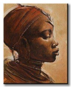 Obraz na płótnie - Masai Woman I - 40x50 cm