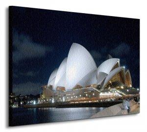 Obraz na płótnie - Sydney Night Panorama - 60x80 cm