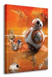 Star Wars Episode VII (BB-8 Art) - obraz na płótnie