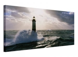Obraz na płótnie - Latarnia Morska - Armen at Sunset - 100x50 cm