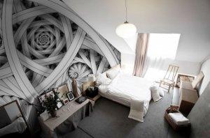 Fototapeta do sypialni - Abstrakcja architektoniczna - 366x254cm