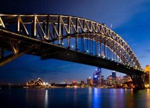 Fototapeta na ścianę - Sydney nocą - 254x183 cm