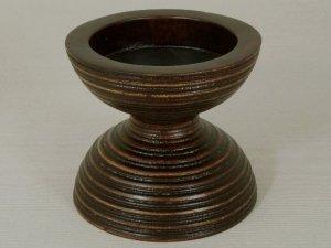 Świecznik - Klepsydra - Drewniany - 11,5x10cm