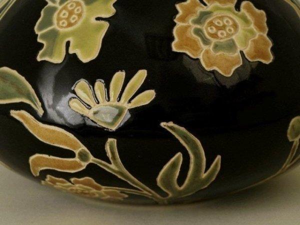 Vaso nero in ceramica 24x20cm