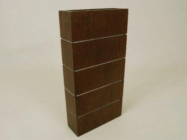 Wazon dekoracyjny - Drewniany - 6,5x18x35cm