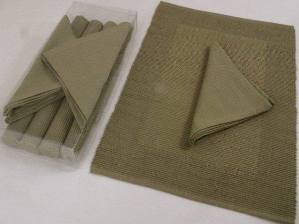 Podkładki na stół  + Serwetki  x 4-szt  - 100% Bawełna