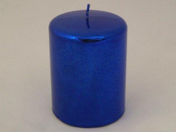 Świeca ozdobna - Walec metallic - 8x10cm