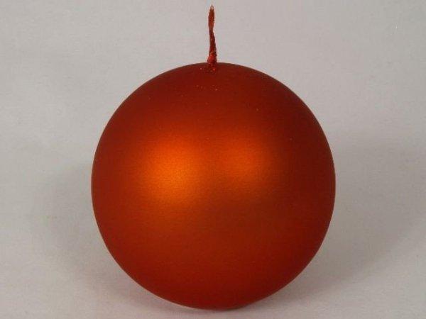 Świeca ozdobna - Czerwień kula - Velvet - 10cm
