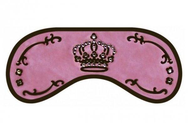 Opaska na Oczy - Wzór Swarovski Crown pink