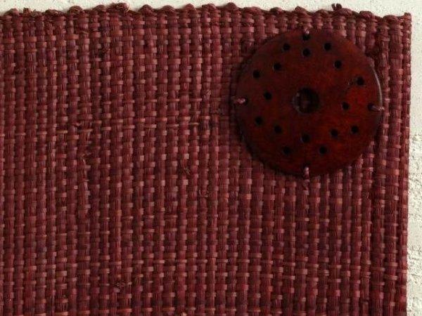 Podkładki na stół - Rafia - Brąz - 33x48cm - 4szt -