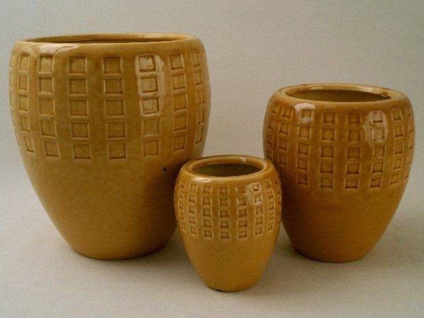 Doniczki ceramiczne - 3szt.