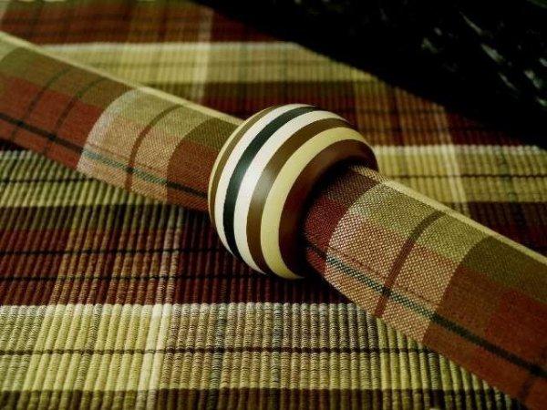 Podkładki na stół + Serwetki + Obrączki na serwetki x 6-szt - Zieleń, Brąz