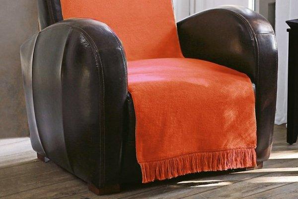 Narzuta na kanapę - 100x200 cm - Pomarańcz