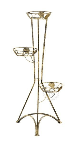 Kwietnik metalowy  - Stojak na kwiaty - Kolumna na 3 dooniczki