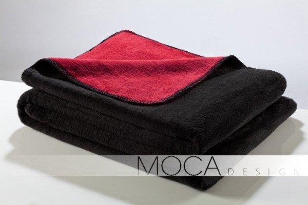 Koc - Czarno - Czerwony - 150x200 cm - black&red