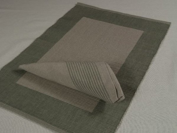 Podkładki na stół + Serwetki x 4-szt - Szare