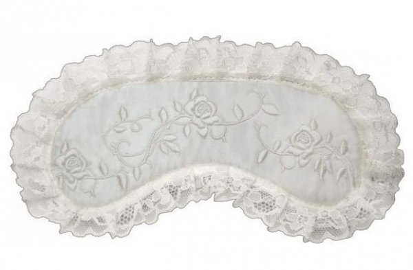 Opaska na Oczy - Wzór Lace Roses white