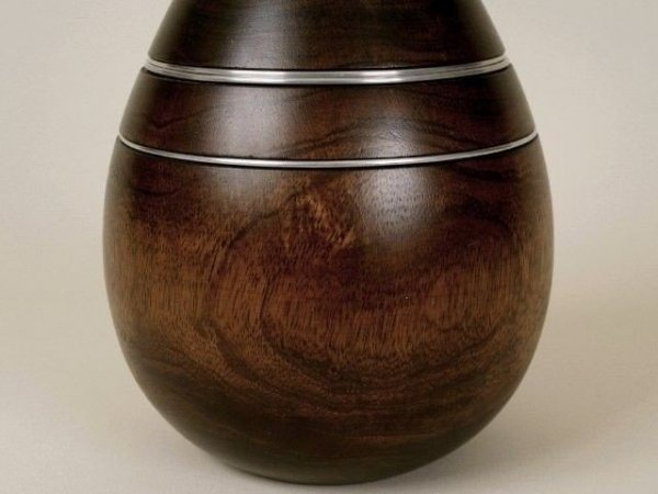 Wazon drewniany - Dekoracyjny - 18x28cm